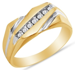 Sonia Jewels - Gold Channel Diamond RIng