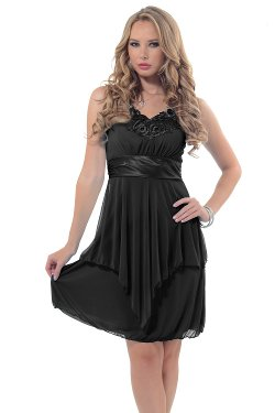 Hot from Hollywood - Victorian Inspired Lace Applique V-Neck Dress