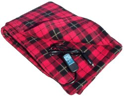 Trillium Worldwide - Heated Fleece Travel Electric Plaid Blanket