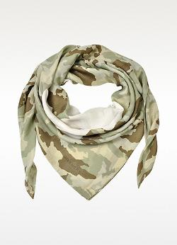 Givenchy  - Favelas 74 Camouflage Cotton and Modal Wrap