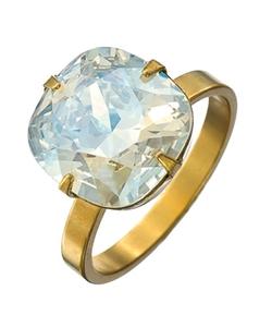 Liz Palacios - Gold And Crystal Cocktail Ring
