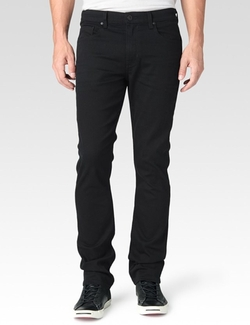 Paige - Federal Black Reflect Denim Pants