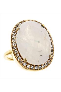 Margaret Elizabeth - Pave Ring Moonstone