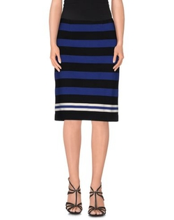 Prada - Knee Length Stripe Skirt