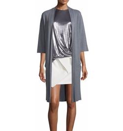 Halston Heritage - Tie-Front Kimono Cardigan