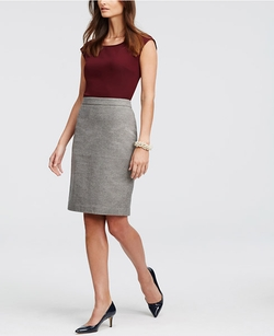 Ann Taylor - Geo Tweed Pencil Skirt
