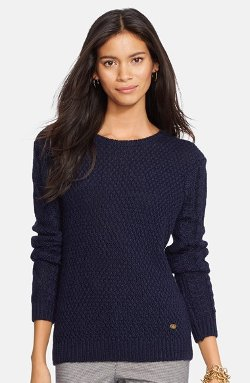 Lauren Ralph Lauren - Textured Crewneck Sweater