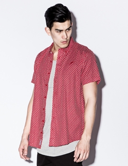 Publish - Red Franklin Button Up Shirt