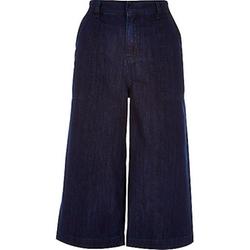 River Island - Dark Blue Wash Denim Culottes