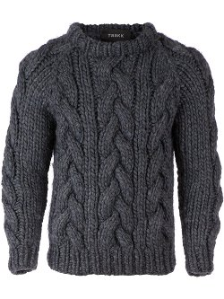 Taakk  - Chunky Cable Knit Sweater