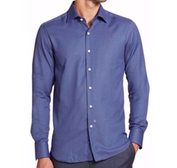 Saks Fifth Avenue Collection  - Printed Cotton Sportshirt