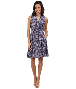 Rebecca Taylor - Sleeveless Kiku Print Dress
