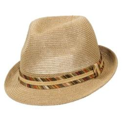 St. John's Bay  - Knitted Fedora Hat w/ Paperbraid Band