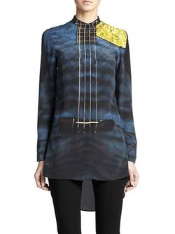 Akris Punto  - Silk Guitar-Print Tunic