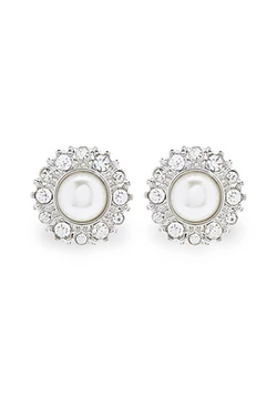 Forever 21 - Rhinestone and Faux Pearl Studs Earring