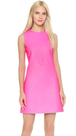 Victoria Victoria Beckham - Leather A Line Shift Dress