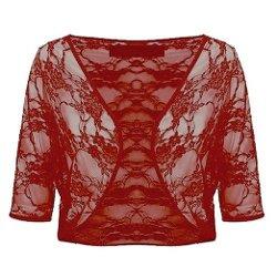 Outofgas - Floral Lace Crochet Bolero Shrug Cardigan