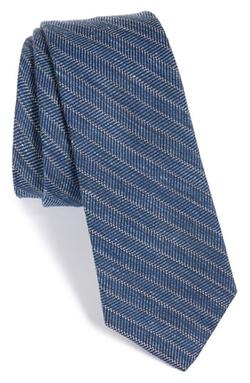 W.r.k - Stripe Wool & Cotton Tie