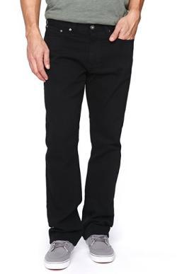 Bullhead Denim Co  - Gravels Slim Black Twill Pants