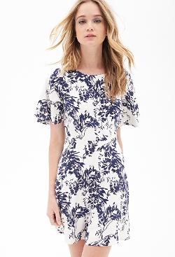 Forever 21 - Floral Print Flutter Dress