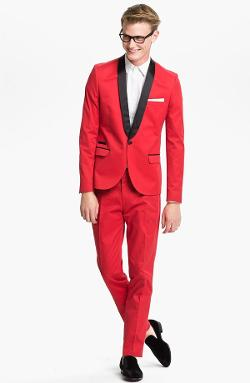 Aliexpress - Red slim fitted shawl Lapel tuxedo