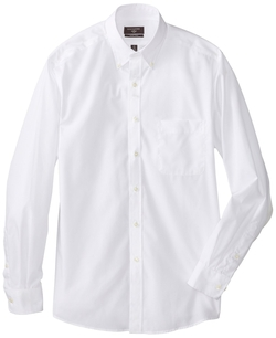Dockers - Solid Dress Shirt with Button-Down Collar