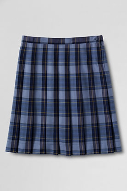 Lands' End - Plaid Pleated Skirt