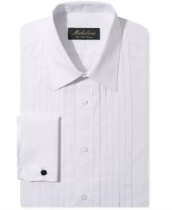 Michelsons of London  - Slim-Fit Pleated Point French Cuff Tuxedo Shirt