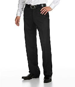 Hart Schaffner Marx  - Tailored Flat-Front Dress Pants