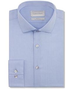 Calvin Klein  - Platinum Slim-Fit Solid Dress Shirt