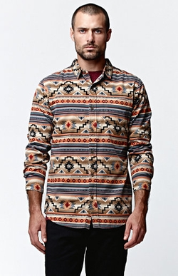 On The Byas  - Conan Ethnic Long Sleeve Woven Shirt