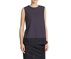 Max Mara - Moda Convertible Jeweled Cotton Top