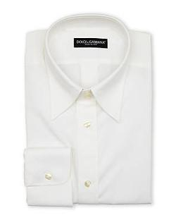 Dolce & Gabbana -  White Solid Dress Shirt