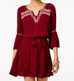 American Rag - Embroidered Peasant Dress