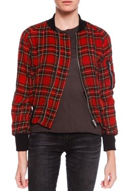 R13 - Plaid Shrunken Flight Jacket