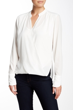 Joan Vass Studio - Long Sleeve Wrap Front Blouse