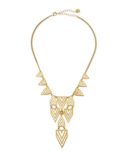 Jules Smith  - Geometric-Print Bib Necklace