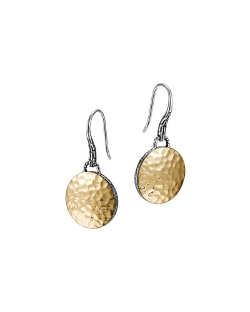 John Hardy  - Palu Gold-Plate/Silver Round Drop Earrings