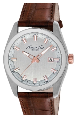 Kenneth Cole New York  - Round Leather Strap Watch