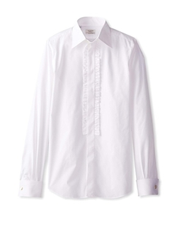 Valentino - Ruffle Placket Dress Shirt