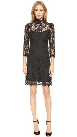 Notte By Marchesa  - Lace Shift Cocktail Dress