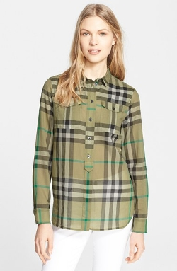 Burberry Brit - Woven Check Tunic Shirt