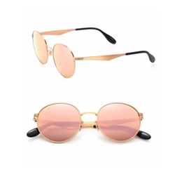 Ray-Ban  - Mirrored Round Metal Sunglasses