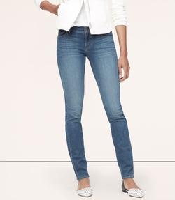 Loft - Curvy Skinny Jeans In Spectral Blue