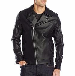 Calvin Klein  - Faux Leather Punk Moto Jacket
