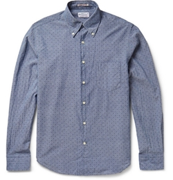 Gant Rugger - Printed Cotton-Chambray Shirt