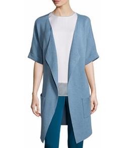 Neiman Marcus - Unfinished-Hem Kimono Topper Jacket