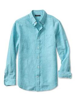 Banana Republic - Slim-Fit Linen Cotton Button-Down Shirt