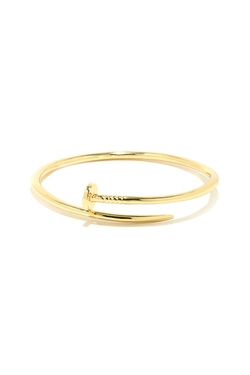 Lulu*s  - Totally Nailed It Gold Nail Bracelet