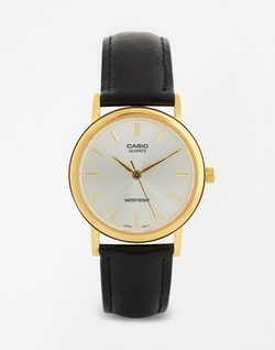 Casio - Leather Strap Watch